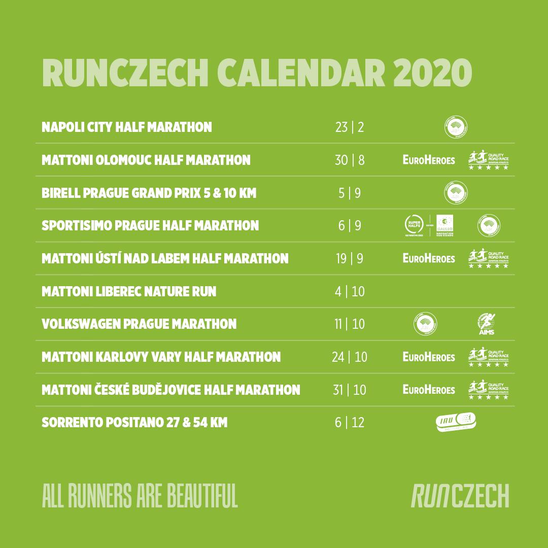Calendario RunCzech